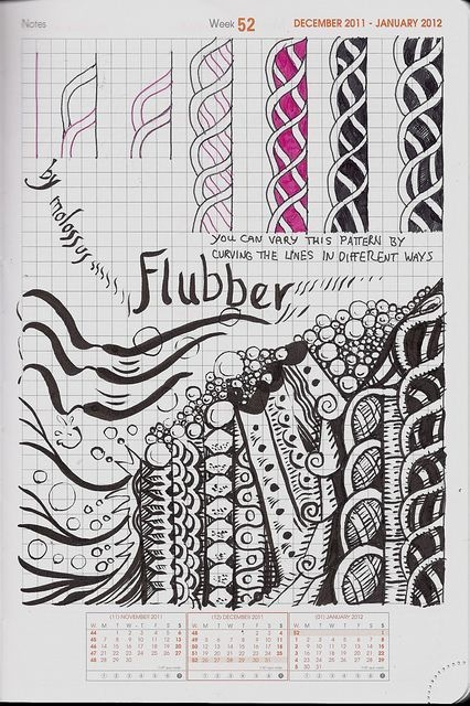 Zentangle Pattern Books Elegant Flubber Tangle Pattern by Molossus who Says Life