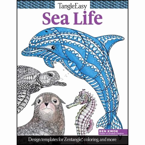 Zentangle Pattern Books Frisch Tangle Easy Sea Life Coloring Book