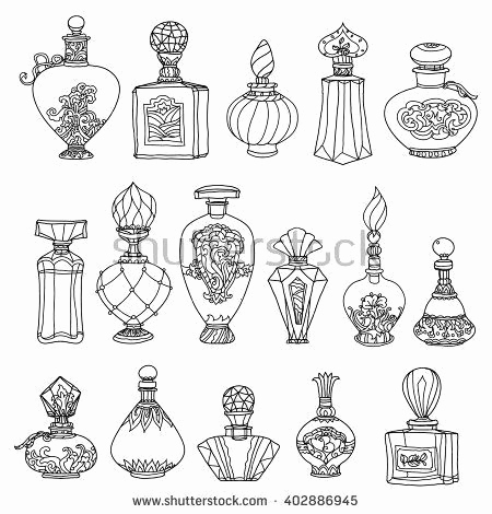 Zentangle Pattern Books Inspirierend Black and White Fantasy Vintage Perfumes Pattern for Adult Coloring
