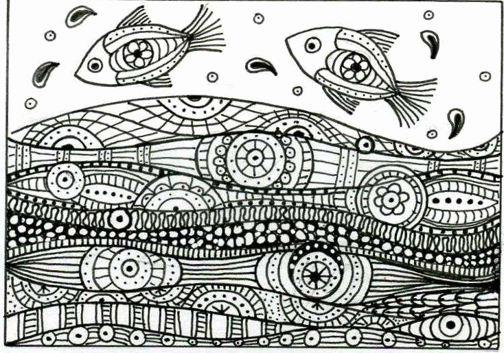 Zentangle Pattern Books Inspirierend Leaping Fish Colouring A4 Pinterest