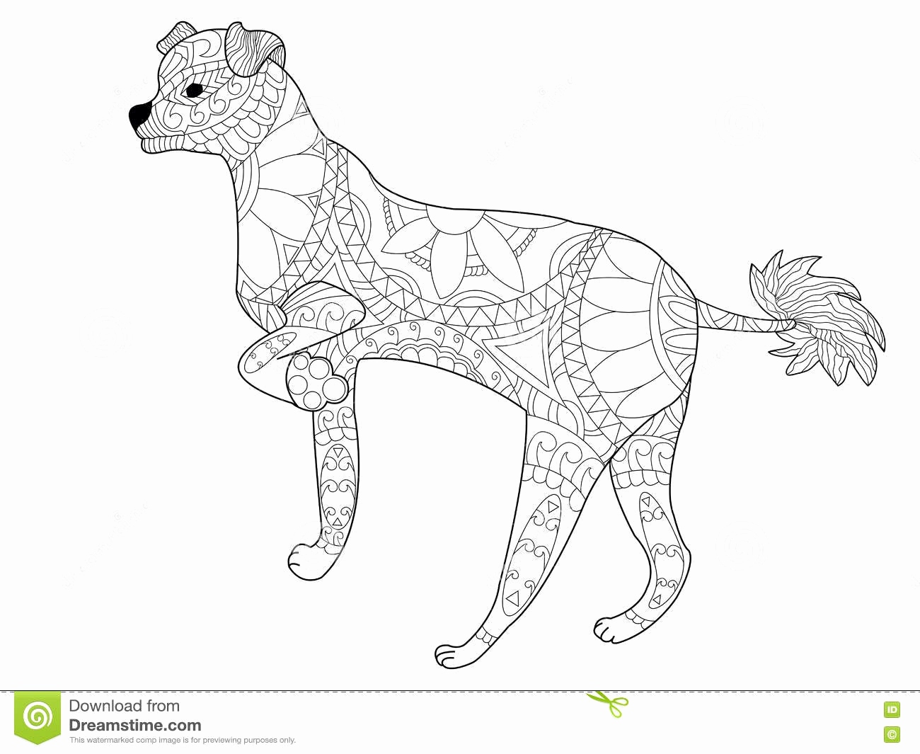 Zentangle Pattern Books Luxus Chinese Crested Dog Coloring Vector for Adults Stock Vector