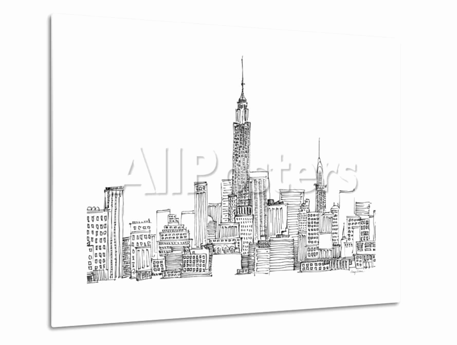 Poster New York Skyline Frisch New York Skyline Crop Posters by Avery Tillmon at Allposters