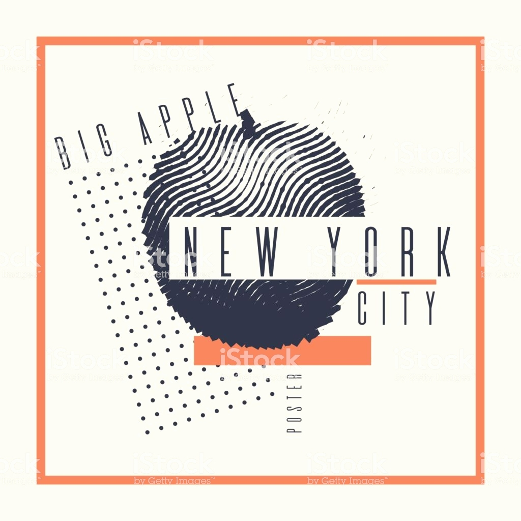 Poster New York Skyline Genial Stylish Poster New York the Big Apple Abstract Background Stock