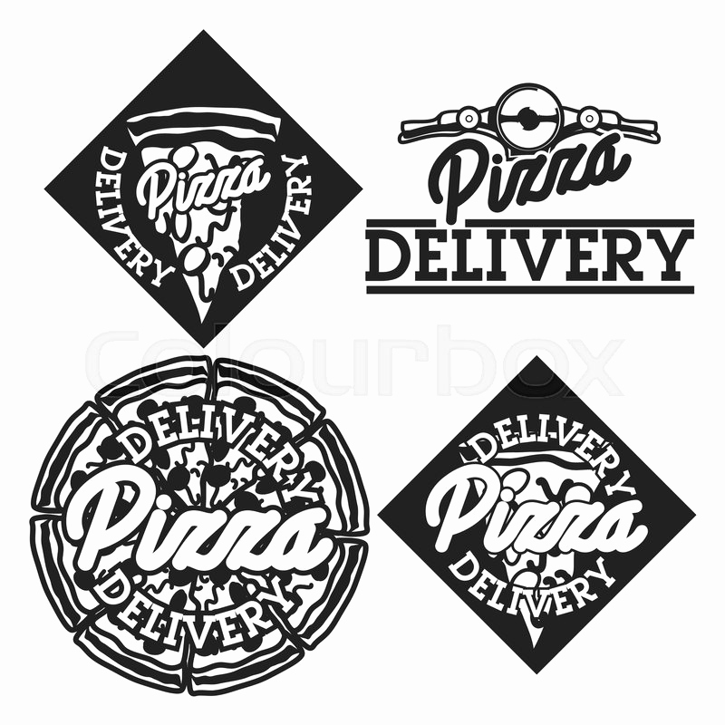 Vintage Etiketten Vorlagen Inspirierend Vector Pizza Logo Set Of Vintage Food Pizza Labels Templates for