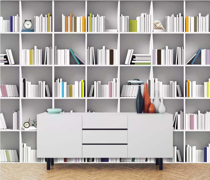 Arte M Sideboard Einzigartig Beibehang Custom Wallpaper Mural Book Library Bookcase Magazine