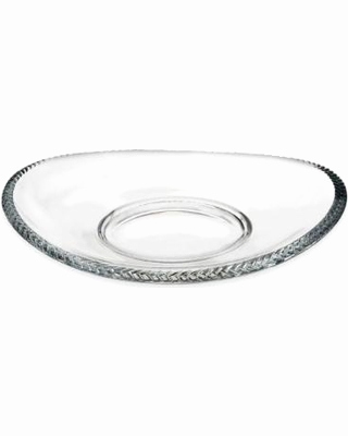 "Bone China Porzellan Aldi Schön Valentines Day Deal Alert Nambe Crystal Braid 12"" Tray New"