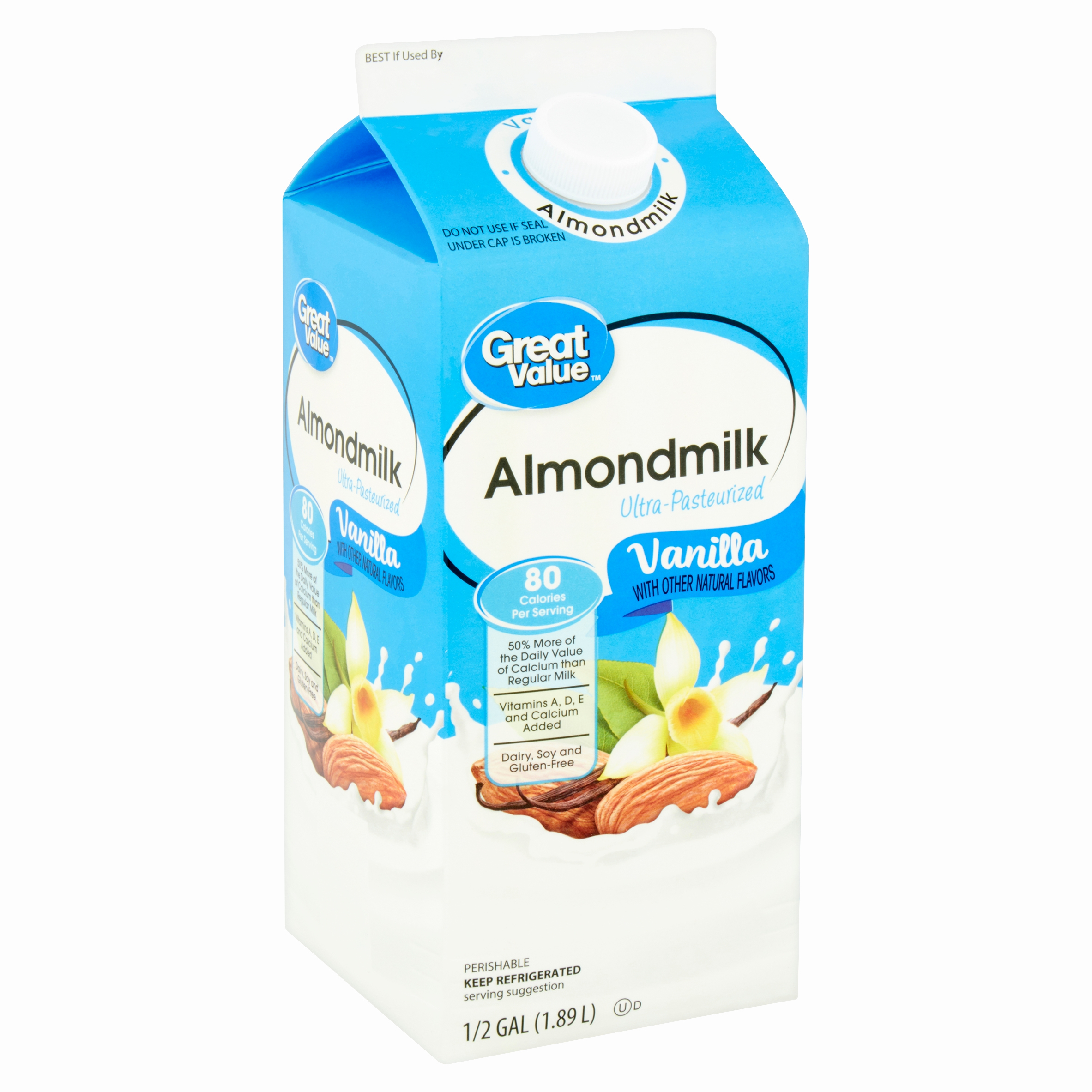Fitness Hocker Aldi Inspirierend Great Value Vanilla Almondmilk 1 2 Gal Walmart