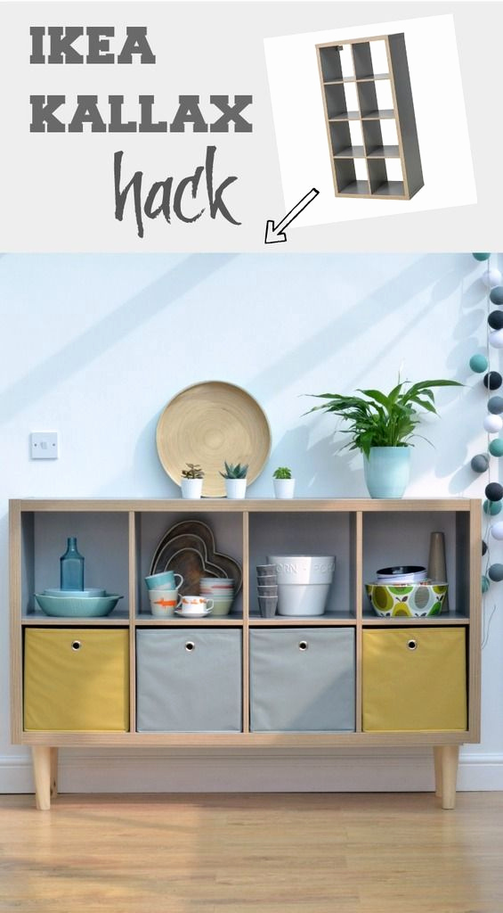 Ikea Hack Sideboard Elegant How to Create A Sideboard with Tapered Legs Using Ikea Kallax