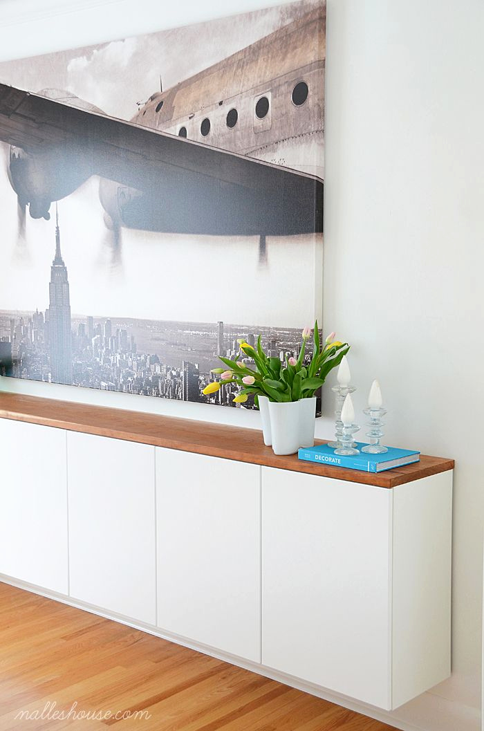 Ikea Hack Sideboard Frisch Modern Dining Room with Large Art and Floating Sideboard