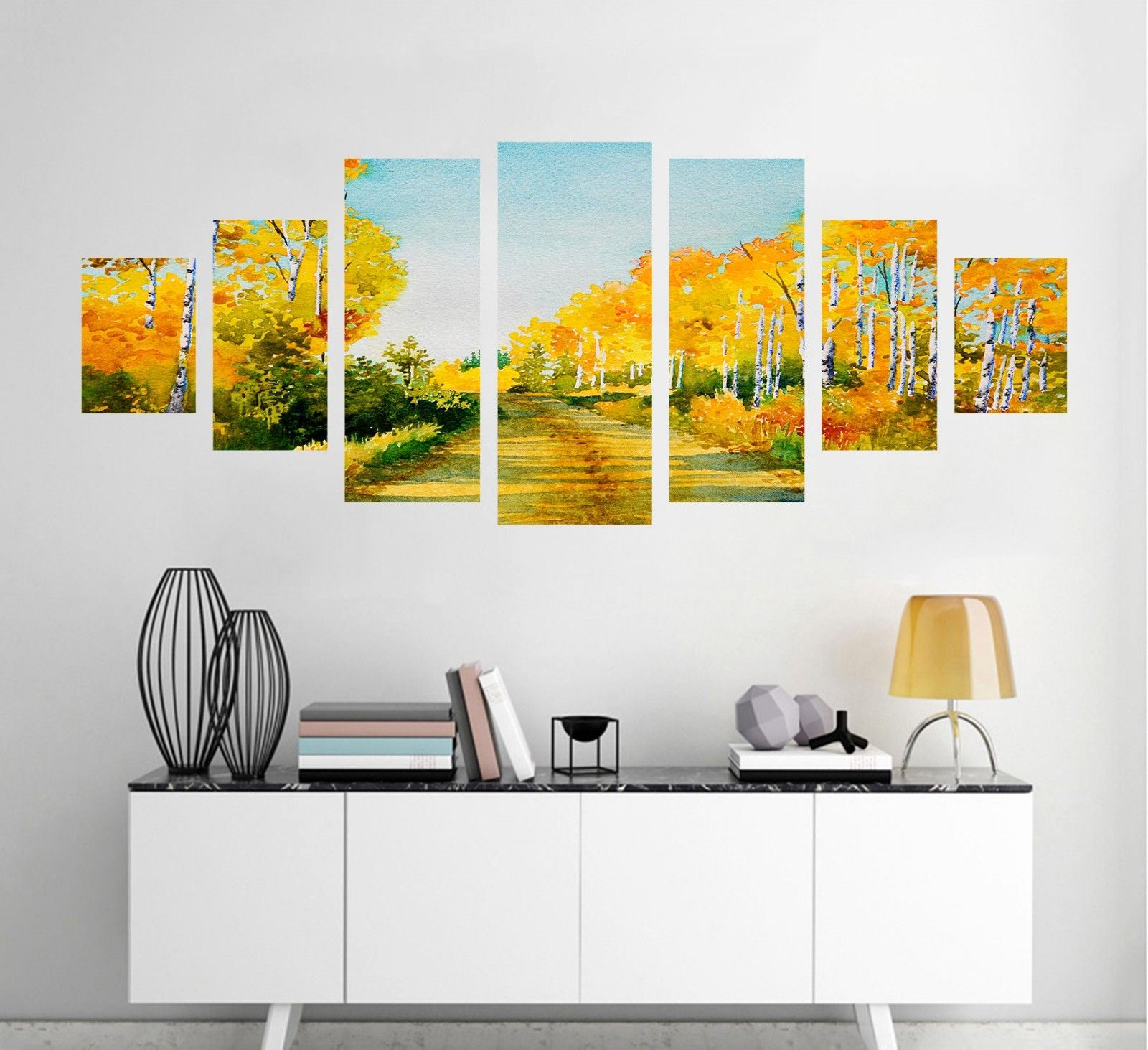 Stehlampe Aus Papier Frisch Road Trees Plant 72 Unframed Print Wall Paper Wall Deco Indoor Aj