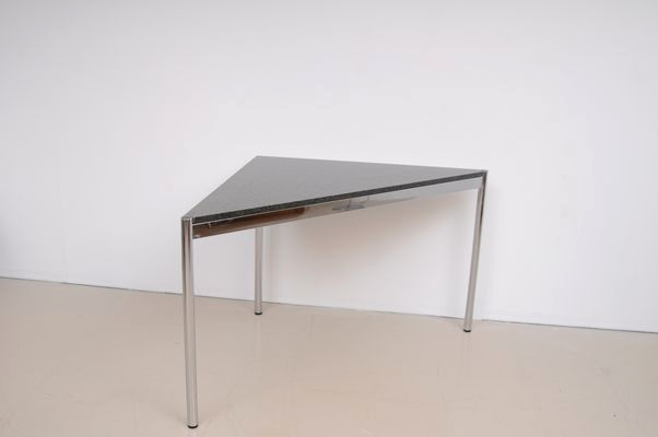 Usm Quick Ship Neu Mid Century Triangular Desk with Granite top From Usm Haller for