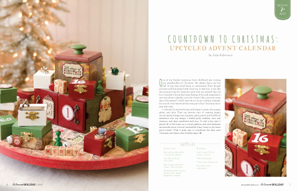 Adventskalender to Go Stampin Up Frisch A somerset Holiday Volume 11