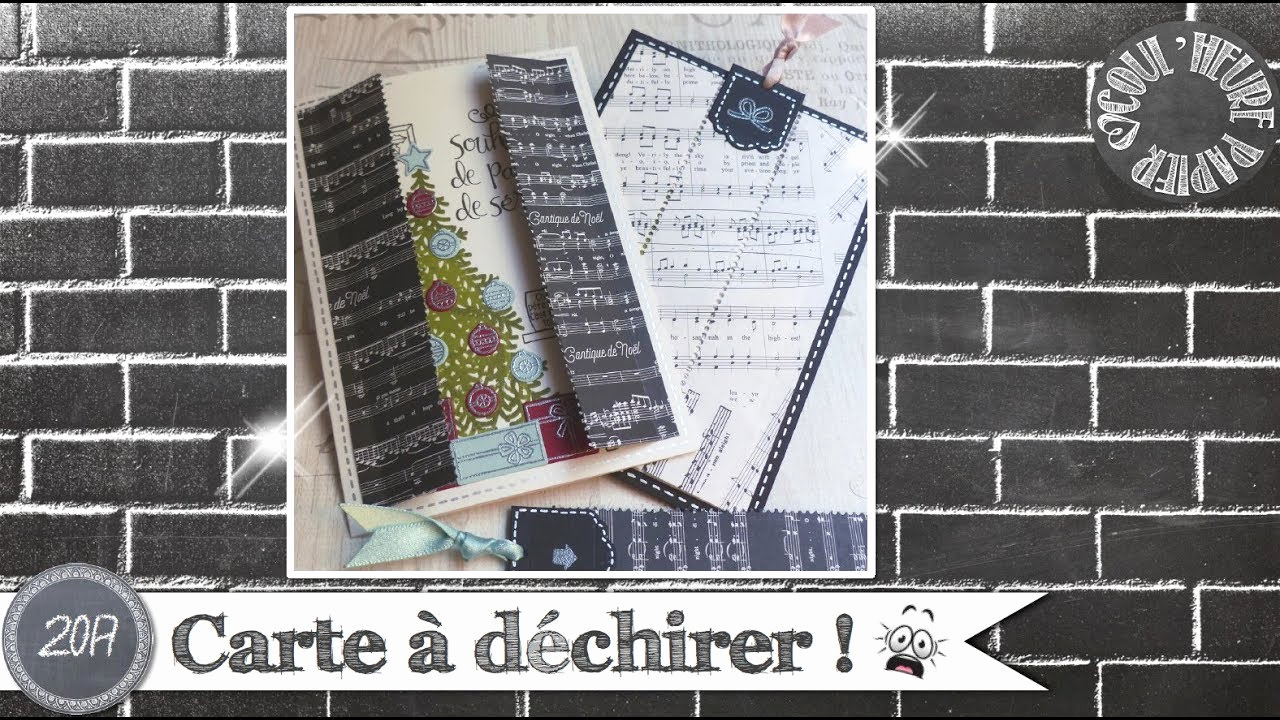 "Adventskalender to Go Stampin Up Frisch Coul Heure Papier ""carte   Déchirer "" [tutoriel]"