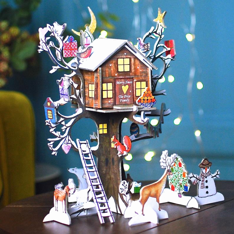 Adventskalender to Go Stampin Up Schön Personalised Tree House Advent Calendar 3d Advent Calendar for Older Children Christmas Countdown Calendar for Boys Interactive Advent