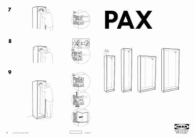"Ikea Pax Anleitung Schön Ikea Pax Wardrobe Frame 39x14x79"" Furniture User Guide for"