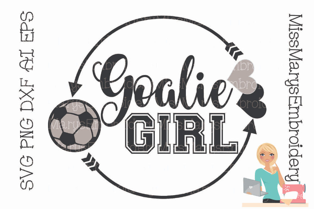 Png to Dxf Elegant Goalie Girl Svg Cutting File Png Dxf Ai Eps
