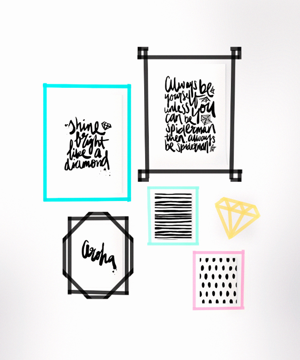 Washi Tape Selber Machen Elegant Diy Washi Tape Frames with Prints by Maiko Nagao