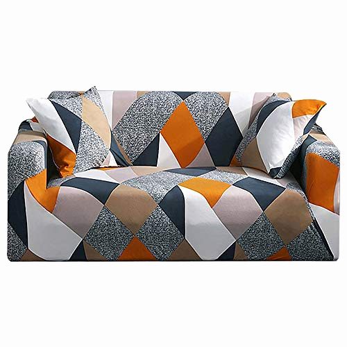Couch Hussen Stretch Schön Summerkimy sofa Slipcover 2 Seater Stretch Fabric Pattern Slip Elastic Chair Couch Settee sofa Covers Washable Pet Dog Furniture Protector Style A