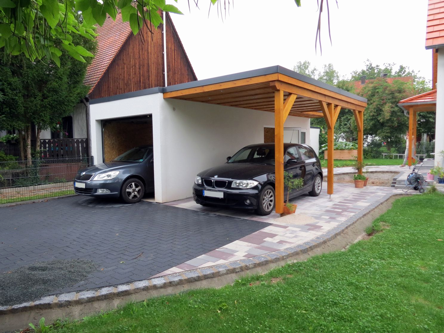 Garage Carport Kombination Frisch Garage Mit Carport In Holz Optik In 2019