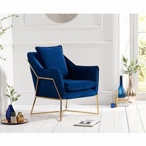 Marc Harris sofa Einzigartig Mark Harris Larna Accent Chair Blue Velvet £362