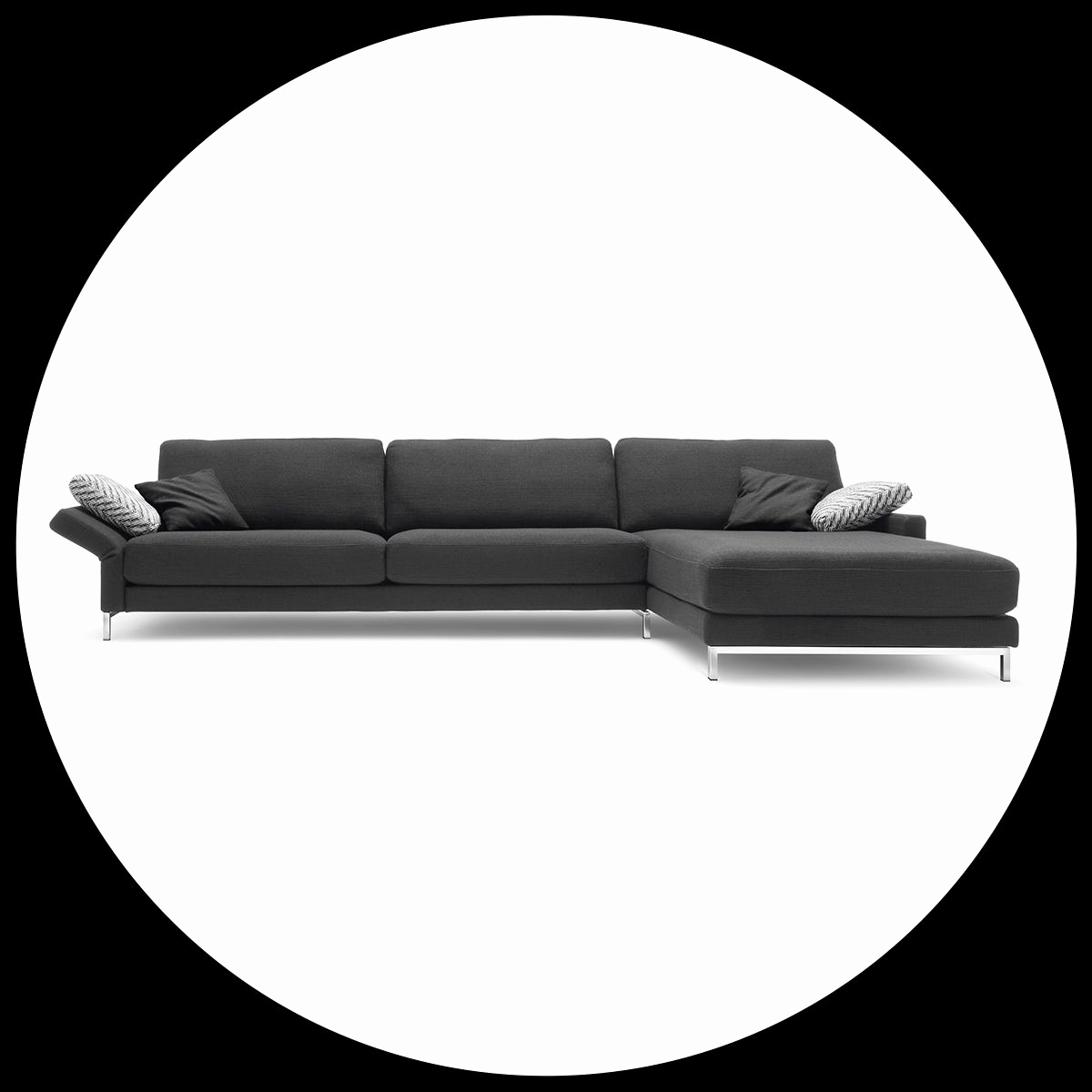 Rolf Benz Freistil Schön the Ego Principle the Rolf Benz Ego sofa In Black
