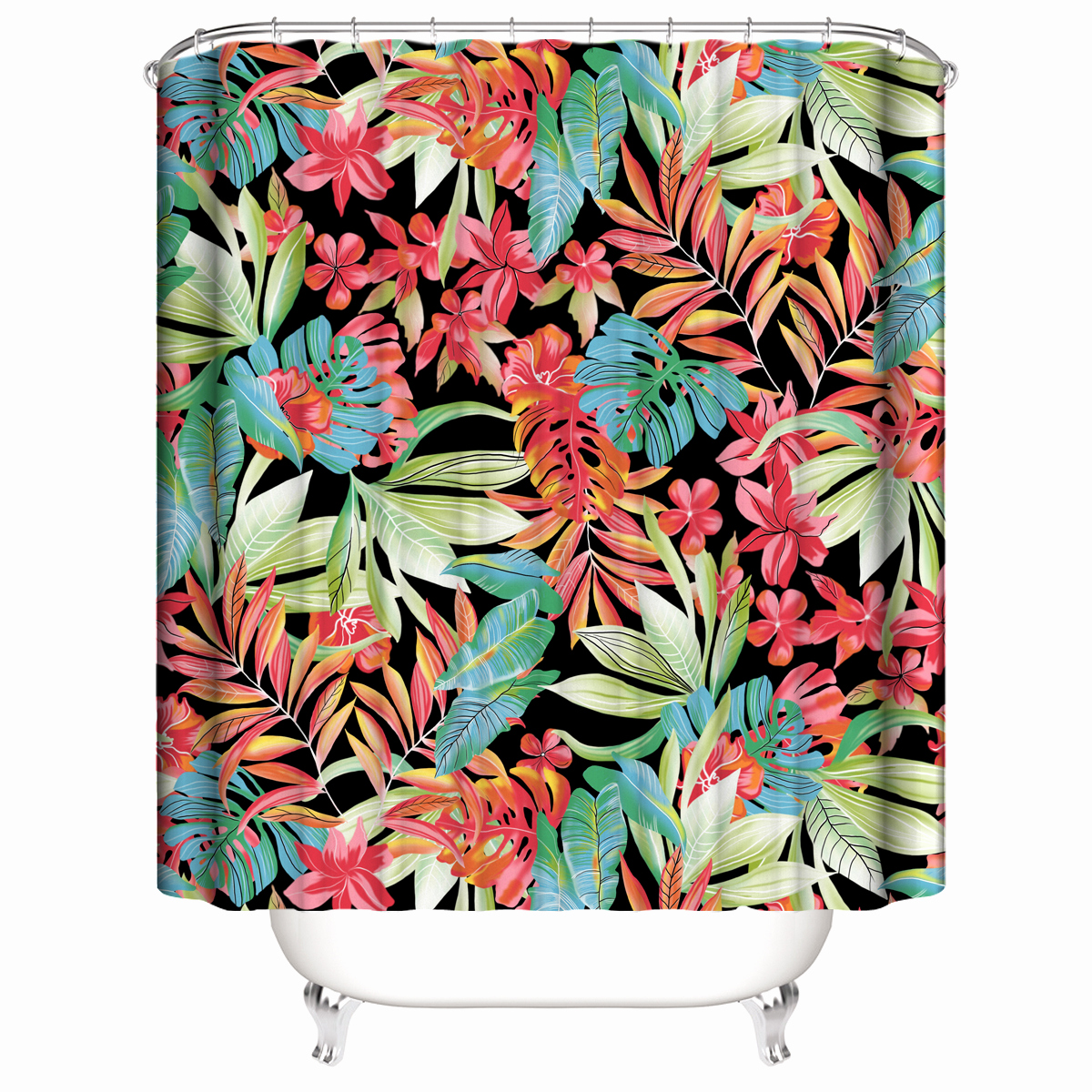 Tv Board Design Einzigartig 2019 Customized Waterproof Banana Fruit Flowers Red Autumnal Leaves Shower Curtains 3d Digital Printing Bathroom Curtains with Rings From